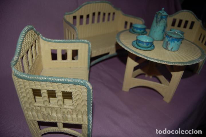 Juguetes antiguos y Juegos de colección: conjunto de sala para muñecas de 40 -45cm antiguo - Foto 4 - 78541493