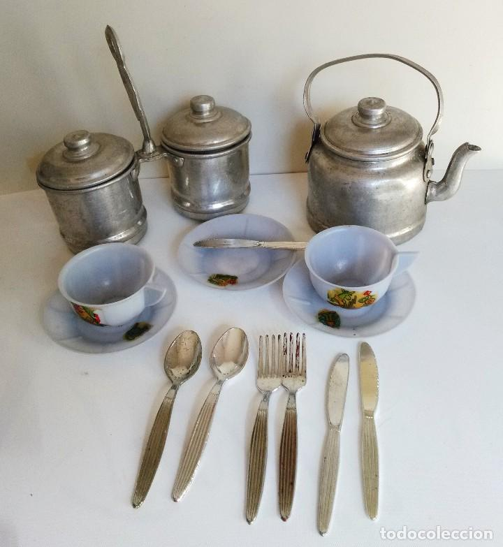 Vajilla y menaje de cocina antiguos de juguete comprar for Cocina y menaje