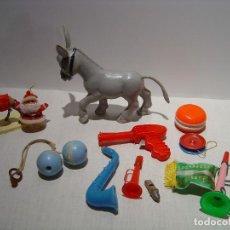 Juguetes antiguos y Juegos de colección: LOTE DE JUGUETES DE PLÁSTICO ANTIGUOS. Lote 101460599