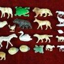 Juguetes antiguos y Juegos de colección: COLECCION DE 32 FIGURAS DE ANIMALES. RESINA. ESPAÑA. MEDIADOS SIGLO XX.. Lote 84610144