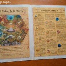 Juguetes antiguos y Juegos de colección: EL GRAN JUEGO DE LA AVENTURA REAL - COLECCIONABLE TIPO ROL - TABLERO N 1 - EL REINO DE LA TIERRA. Lote 85614024