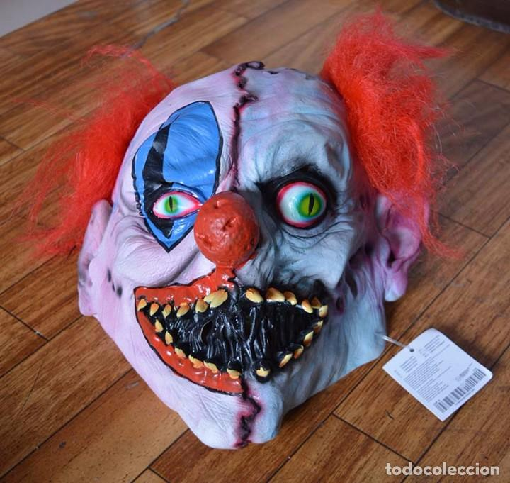 Máscara payaso asesino psicopata monstruo cabeza completa pelo LATEX NUEVA 1228ad1dbbe9