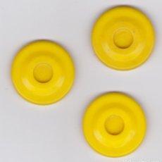 Juguetes antiguos y Juegos de colección: LOTE DE TRES FICHAS DE COCHES DE CHOQUE, AÑOS 70, ATRACCIONES, COCHES CHOQUE CASPOLINO, XUFRE. Lote 86578600