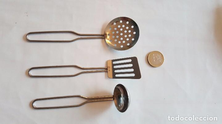 Utensilios cocina juguete 2 espumaderas y cucha comprar for Utensilios antiguos de cocina