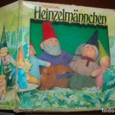 Juguetes antiguos y Juegos de colección: FAMILIA DE DAVID EL GNOMO EN CAJA DE 1976 HEINZELMANNCHEN DE MATTEL RARISIMO. Lote 88297200