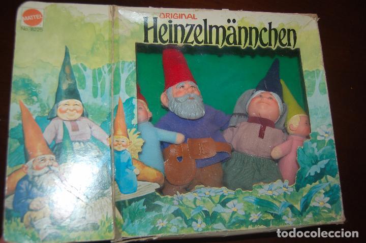 Juguetes antiguos y Juegos de colección: familia de david el gnomo en caja de 1976 HEINZELMANNCHEN de mattel rarisimo - Foto 2 - 88297200