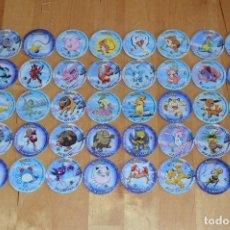 Juguetes antiguos y Juegos de colección: COLECCIÓN COMPLETA TAZOS MATUTANO POKÉMON TAZO LEAGUE 2 CON Y SIN PEGATINA STICKER CAPS POGS. Lote 88854692