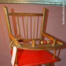 Juguetes antiguos y Juegos de colección: TRONA PARA MUÑECAS DE MADERA. Lote 89264764