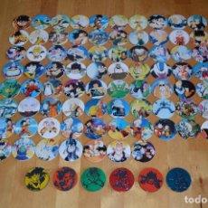 Juguetes antiguos y Juegos de colección: COLECCIÓN COMPLETA TAZOS PANINI DRAGON BALL Z CAPS TAZO POGS MASTER SLAMMERS BOLA DE DRAGÓN. Lote 90639685