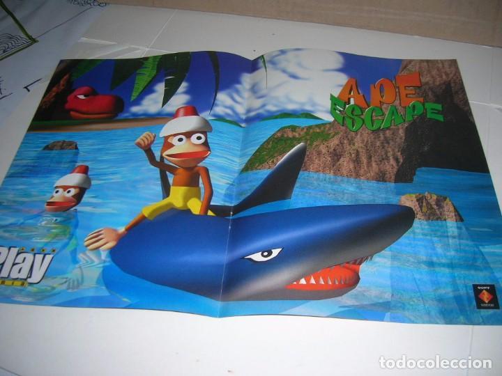 PlayStation  Poster doble Playmania  Por un lado Tekken 3, por el otro lado  Ape Escape