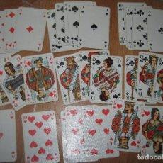 Juguetes antiguos y Juegos de colección: PELICAN RARA BARAJA ANTIGUA NAIPES ESPAÑOLES CARTAS RARAS DIFERENTES CAJA FOURNIER. Lote 92878610