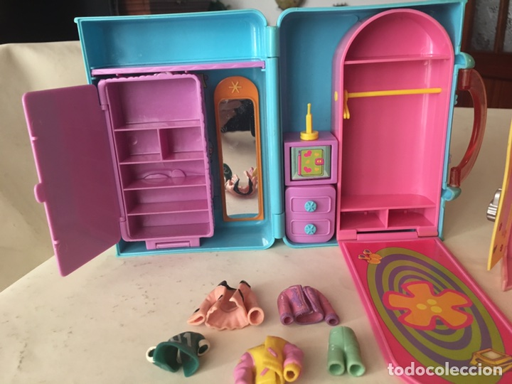 Juguetes antiguos y Juegos de colección: Polly pocket Maletin casa y armario con Ropita años 90 - Foto 3 - 92994643