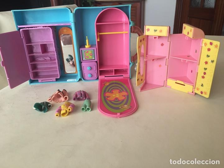 Juguetes antiguos y Juegos de colección: Polly pocket Maletin casa y armario con Ropita años 90 - Foto 5 - 92994643