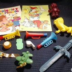 Juguetes antiguos y Juegos de colección: LOTE JUGUETES COSAS DE KIOSKO AÑOS 70 - 80 PLASTICO. Lote 93031415