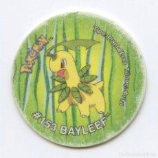 Juguetes antiguos y Juegos de colección: TAZO TAZOS POKÉMON MATUTANO - TAZO 3 Nº184 BAYLEEF. Lote 93159055