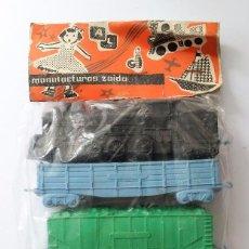 Brinquedos antigos e Jogos de coleção: TRENES DE PLÁSTICO EN BLISTER DE LA MARCA MANUFACTURAS ZAIDA (VER + FOTOS). Lote 95004899