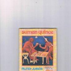 Juguetes antiguos y Juegos de colección: MUNDI JUEGOS CEREALES NESTLE JUEGOS DE TODO EL MUNDO SUMAN QUINCE PRECINTADO. Lote 95551839
