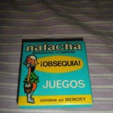 Juguetes antiguos y Juegos de colección: NATACHA MARGARINA VITAMINICA OBSEQUIO JUEGO MEMORY. Lote 95560351