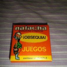 Juguetes antiguos y Juegos de colección: NATACHA MARGARINA VITAMINICA OBSEQUIO JUEGO PUZZLE. Lote 95560375
