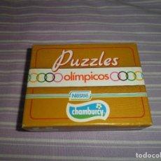 Juguetes antiguos y Juegos de colección: PUZZLES OLIMPICOS NESTLE CHAMBURCY WATER POLO. Lote 95560795
