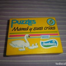 Juguetes antiguos y Juegos de colección: PUZZLES MAMA Y SUS CRIAS 6 NESTLE CHAMBURCY. Lote 95561075