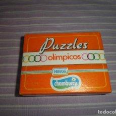 Juguetes antiguos y Juegos de colección: PUZZLES OLIMPICOS NESTLE CHAMBURCY HOCKEY SOBRE HIERBA. Lote 95561147