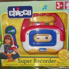 Juguetes antiguos y Juegos de colección: SUPER RECORDER CON MICRO. CHICCO.NUEVO.. Lote 194334576