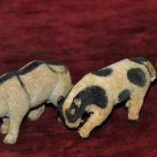 Juguetes antiguos y Juegos de colección: LOTE DE 7 ANIMALES DE LOS AÑOS 40. MANUFACTURA ALEMANA. Lote 96068507