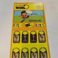 Juguetes antiguos y Juegos de colección: BLISTER SPORT BILLY LLAVEROS AÑOS 80 KIOSCO AMARILLO. NUEVO DE ALMACÉN EN SU EMBALAJE. Lote 116899338
