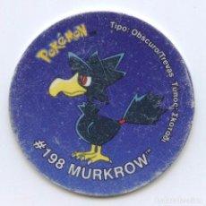 Juguetes antiguos y Juegos de colección: TAZO TAZOS POKÉMON MATUTANO - TAZO 3 Nº198 MURKROW. Lote 96630583