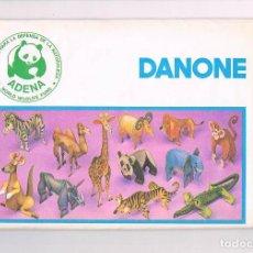 Juguetes antiguos y Juegos de colección: MAQUETA DANONE ADENA ANIMALES CARTON CABRA CERRADO YOGURT. Lote 97711783