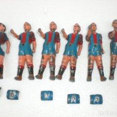 Juguetes antiguos y Juegos de colección: 6 JUGADOR DE FUTBOLÍN DE HIERRO. Lote 97865063
