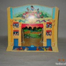 Juguetes antiguos y Juegos de colección: ANTIGUO TEATRO DEMONTABLE EN CARTÓN WALT DISNEY PUBLICIDAD DE DANONE. Lote 98347663