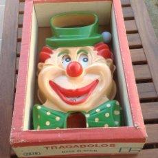 Juguetes antiguos y Juegos de colección: PAYASO TRAGABOLAS EN CAJA ORIGINAL AÑOS 60-70 POPI TRAGABOLAS. Lote 98847023