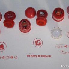 Juguetes antiguos y Juegos de colección: LOTE DE 3 SELLOS O TAMPONES DOBLES DE HELLO KITTY. Lote 99853695