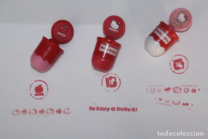 Juguetes antiguos y Juegos de colección: Lote de 3 sellos o tampones dobles de Hello Kitty - Foto 2 - 99853695