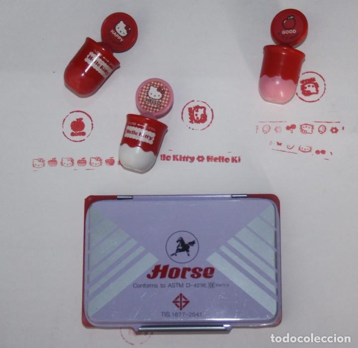 Juguetes antiguos y Juegos de colección: Lote de 3 sellos o tampones dobles de Hello Kitty - Foto 3 - 99853695