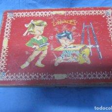 Juguetes antiguos y Juegos de colección: ANTIGUA CAJA LABORES, ANTIGUO CABA ESCOLAR DE NIÑA DECORADA. Lote 101000747