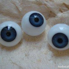 Ojos antiguos de cristal para muñeca