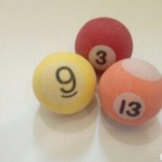 Juguetes antiguos y Juegos de colección: LOTE 3 PELOTAS SALTARINAS. Lote 103251644
