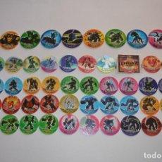 Juguetes antiguos y Juegos de colección: COLECCIÓN TAZOS MATUTANO CHEETOS GORMITI AÑO 2011 COMPLETA TAZO CAPS POGS HOLOGRÁFICOS GRANDES. Lote 105025591