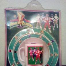 Juguetes antiguos y Juegos de colección: VAJILLA INFANTIL POWER RANGERS ORIGINAL AÑOS 90. SABAN 1995 . Lote 105609279