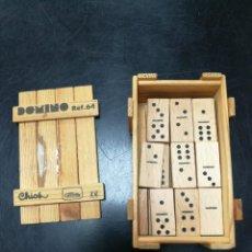 Juguetes antiguos y Juegos de colección: DOMINO PEQUEÑO GOULA DE MADERA. Lote 107505763