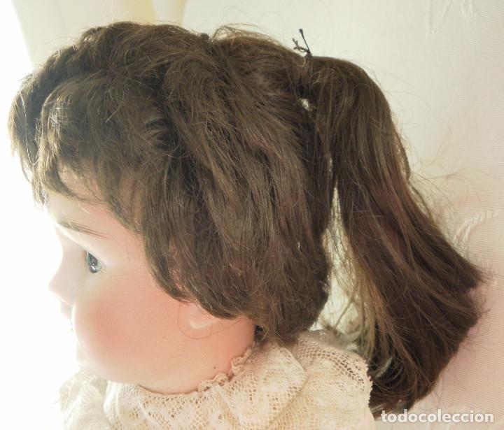 Juguetes antiguos y Juegos de colección: Peluca de pelo natural para Muñeca. Contorno 23-24 cms. - Foto 2 - 107653931