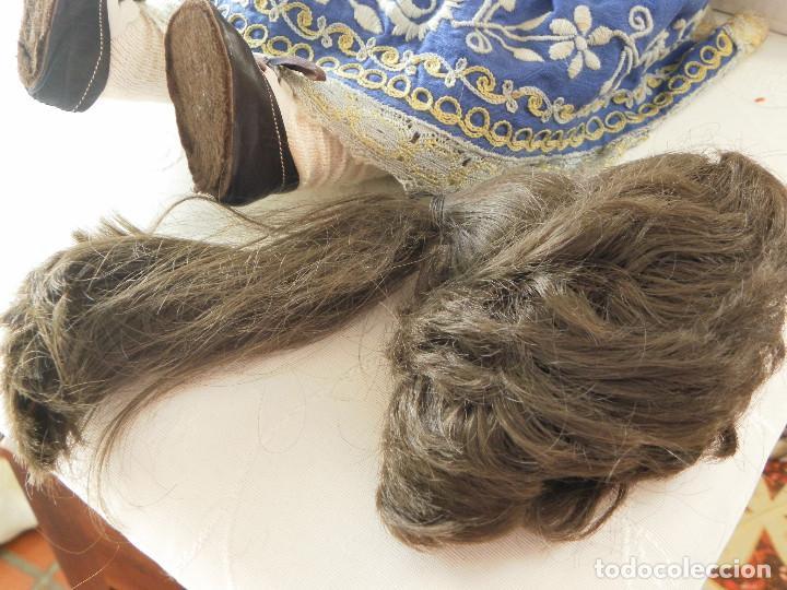 Juguetes antiguos y Juegos de colección: Peluca de pelo natural para Muñeca. Contorno 23-24 cms. - Foto 3 - 107653931