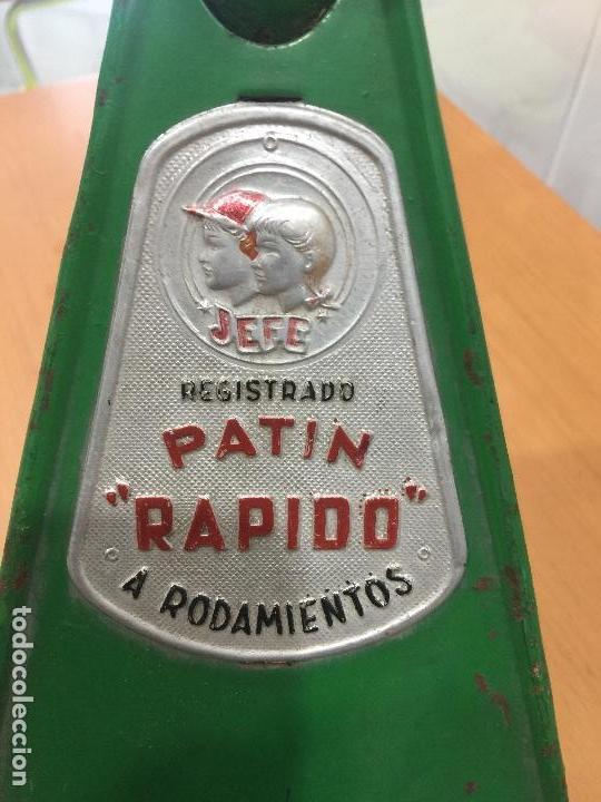 Juguetes antiguos y Juegos de colección: PATINETE JEFE SALUDES AÑOS 50 RARISIMO - Foto 6 - 109074015