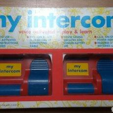 Juguetes antiguos y Juegos de colección: INTERCOMUNICADORES MY INTERCOM VINTAGE DE PLAY HOUSE TOYS. Lote 109329550