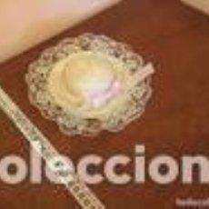 Juguetes antiguos y Juegos de colección: SOMBRERO DE PAJA CON PUNTILLA. Lote 109539191