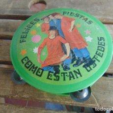 Juguetes antiguos y Juegos de colección - PANDERETA EN PLASTICO FELICES FIESTAS COMO ESTAN USTEDES LOS PAYASOS DE LA TELE - 110643163