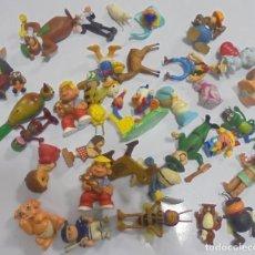 Juguetes antiguos y Juegos de colección: LOTE DE 32 MUÑECOS ANIMADOS VARIADOS. PATO DONALD, MORTADELO, ABEJA MAYA, OSO YOGUI Y OTROS. LEER. Lote 112313999